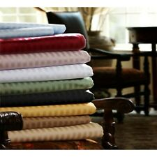 Glorious Bedding Fitted Sheet 1000TC Egyptian Cotton All UK Size Striped Colors