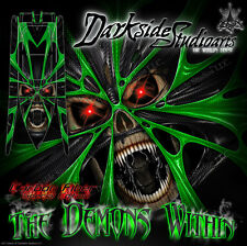 """PRO BOAT IMPULSE 31 DEEP V """"THE DEMONS WITHIN"""" GRAPHICS FITS OEM HULL PARTS WRAP"""