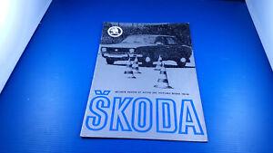 Fascicule brochure  publicitaire SKODA coupé 105/120 original des années 1970