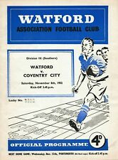 More details for scarce football programme watford v coventry city 1952