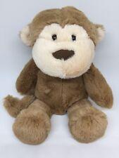 "Manhattan Toy Company Monkey Plush Stuffed Beanbag Brown Tan 11"""