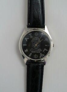 Masonic  wrist watch brand new black face (ss)