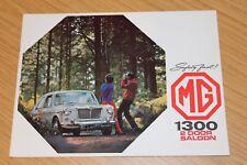 Mg 1300 2 PUERTAS SEDÁN FOLLETO de ventas 1968 pub no 2515