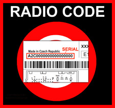 RADIO CODE passend für Continental Fiat 500 L X VP1 VP2 ECE DAB NAV 334 SECURITY