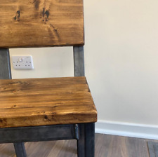rustic handmade dining chair