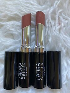 Laura Geller 2 X Cream Hydrating Lipstick Colour LAVENDER nude beige 3.2g New