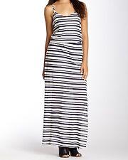 New Splendid womens Marina Eyelet Stripe Jersey Maxi Dress-sz M-$148