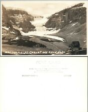 Icefields Chalet & Snow Dome Canada Vintage Rppc Real Photo Postcard