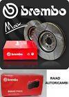 Kit dischi freno SPORTIVI BREMBO MAX - pastiglie BREMBO posteriori AUDI A4 01-04