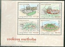 PAPUA NEW GUINEA 2013 COOKING METHODS  SHEET MINT NH