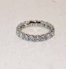 2.49CT DIA ETERNITY RING/SHARED PRONG/ PLATINUM