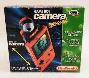 GAME BOY POKET BLU' SPECIAL CAMERA NINTENDO GIG GAME VINTAGE 1996 NEW IN BOX