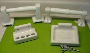 VINTAGE PORCELAIN BATHROOM FIXTURES  TOOTHBRUSH & SOAP HOLDERS TP HOLDER