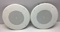 Lot Of 2 Used DUKANE CEILING SPEAKERS MODEL 6A634 MADE IN USA