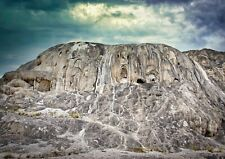 Mountain with Faces in Yellowstone Photo Art Wall Decor Family Room, Den Kitchen