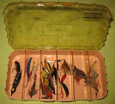 """Vintage 1930s Bundle of 16 Flies in Various Sizes 3"""" to 1 1/2"""""""