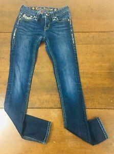 Rock Revival Denim Betty Skinny Jeans Size 26 Dark Wash