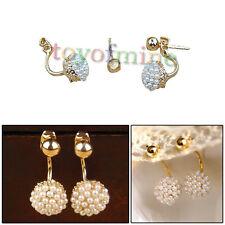 Lady Style elegante coreano perle artificiali sfera dolce orecchini