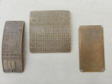 Group of 3 Equipment Tool Machinery Plaques Tags Signage Man Cave Garage Sign