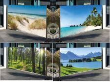 Seitenmarkise mit Fotodruck 160 x 300 cm Windschutz und Sichtschutz Markise