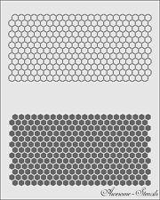 Hexagon + negative Pattern  Reusable Stencil Airbrush Painting Art Craft