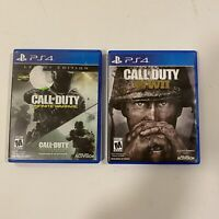 Call of Duty: WWII WW2 (Sony PlayStation 4, 2017) PS4- COMPLETE & legacy editin