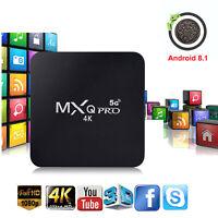 MXQ PRO Quad Core Android 8.1 TV Box 1+8GB HDMI WIFI 4K Media Streamer 5G Wifi
