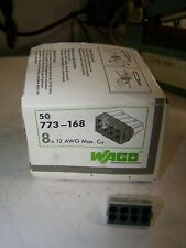 50 New Wago J Box Pushwire Connectors 8 X 12 Awg Max Model 773 168 Lot Of 50