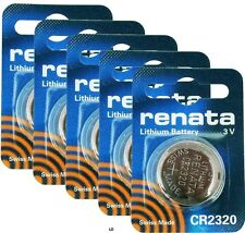 CR2320 RENATA WATCH BATTERIES 2320 (5 piece) New packaging Authorized Seller