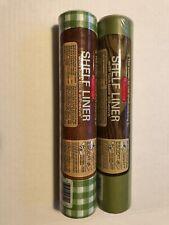 2 Rolls Of Vintage Unopened Rubbermaid Shelfliner Tack Back Adhesive