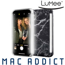 LuMee DUO Case w/ Front & Back LED Lights For iPhone XS / X - BLACK MARBLE