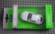 Welly Schlüsselanhänger Jaguar F-Type Coupe weiß in 1:60  Neu & OVP