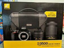 Nikon D3500 24.2 MP Digital Camera - Black (Kit 18-55mm & 70-300mm) BIG BUNDLE