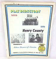 Plat Directory 1979 Henry County Ohio, Future Farmers of America