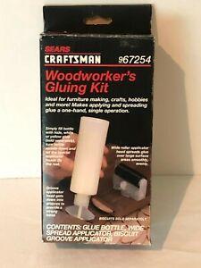 Craftsman Sears Woodworkers Gluing Kit 967254 Vintage Set Biscuit Jointing