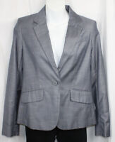 New York & Co Blazer Jacket One Button Lined Career Office Lined Gray 0 NWT New