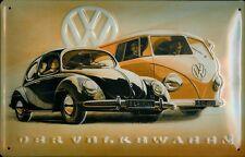 VW Volkswagen Käfer & Bus T1 Blechschild Schild 3D geprägt Tin Sign 20 x 30 cm