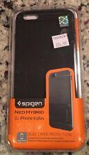 Spigen Neo Hybrid For iPhone 6 6S Plus Case Metal Slate 100% Authentic New