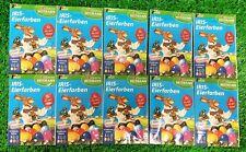 (1€/Tüte) 10 Tüten Heitmann IRIS EIERFARBEN (5 Farben) Ostereierfarbe Vers.0€