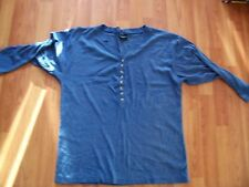 Blue v neck ribbed half sleeve top by Affirmative Collection, free size