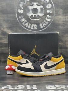 Nike Air Jordan 1 Low University Gold 2019 Size 11.5 553558-127 Yellow Black Red