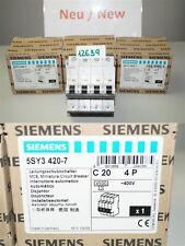 Siemens C20  5SY34 Leitungsschutzschalter 5SY3420-7  4pol 400v 20A
