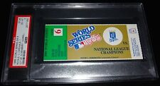 1985 WORLD SERIES GAME 6 TICKET KANSAS CITY ROYALS 9TH INNING WALK OFF WIN PSA