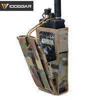IDOGEAR Tactical Radio Pouch For Walkie Talkie Holder MOLLE MBITR PRC148/152