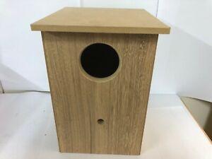 "12"" Wooden wood lorikeet conure nesting nest box w perch AUSSIE MADE"