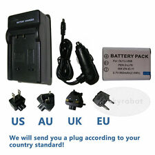 NP-BY1 EN-EL11 LI-60B Battery + Travel Charger for Sony Action Cam Mini HDR-AZ1