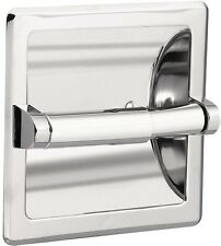 Bathroom Decor Recessed Toilet Paper Tissue Holder In Chrome With Roller