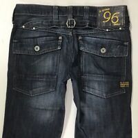 Ladies G-Star ELWOOD HERITAGE LOOSE FIT DARK BLUE jeans size W27 L30 (719e)