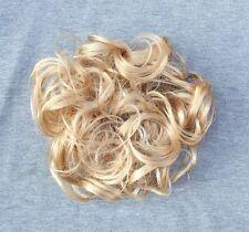 Üppiges großes Haarteil Haargummi Zopfgummi Haarverdichtung  Scrunchie BLOND MIX