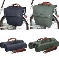 Tourbon Bike Double Panniers Cycling Trunk Bag Seat Pack Canvas Large Capacity